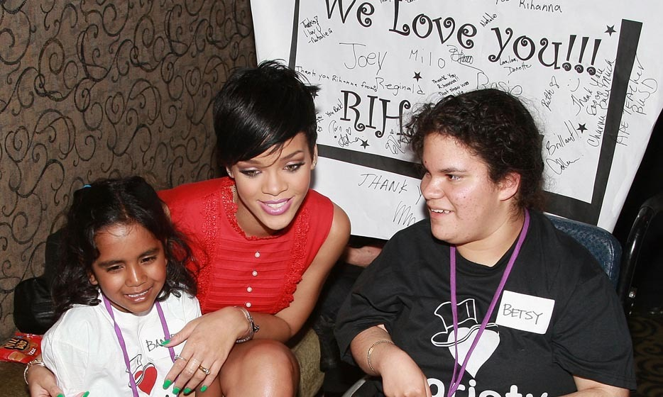 "RIHANNA: Though she's more famous for her wild antics than her philanthropic endeavors, the Barbadian singer's 'work hard, play hard' mentality extends to the hard work she does for kids in her spare time. The singer founded her Believe Rihanna foundation in 2006, which helps terminally ill children while also providing health care, school supplies and clothing to needy kids around the world. ""When I was young and I would watch television and I would see all the children suffering, I always said: 'When I grow up, I want to help,'"" she said. Photo: © Steve Jennings/WireImage/Getty Images"