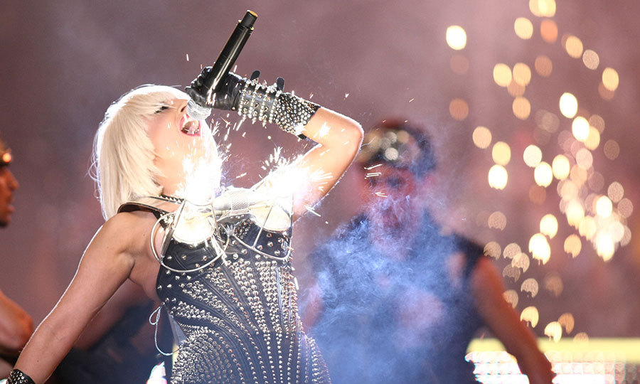 GAGA ON FIRE: Lady Gaga's stage outfit – which exploded with pyrotechnics – was the talk of the MuchMusic Video Awards in 2009.