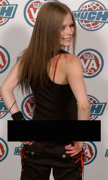 GETTING CHEEKY: A young Avril Lavigne showed off her assets by mooning the MMVA crowd in 2003, while rocking her trademark skater-punk aesthetic (low-hanging Dickies pants, flat-ironed hair and a tank top). It remains one of the brash singer's most famous stunts to date.