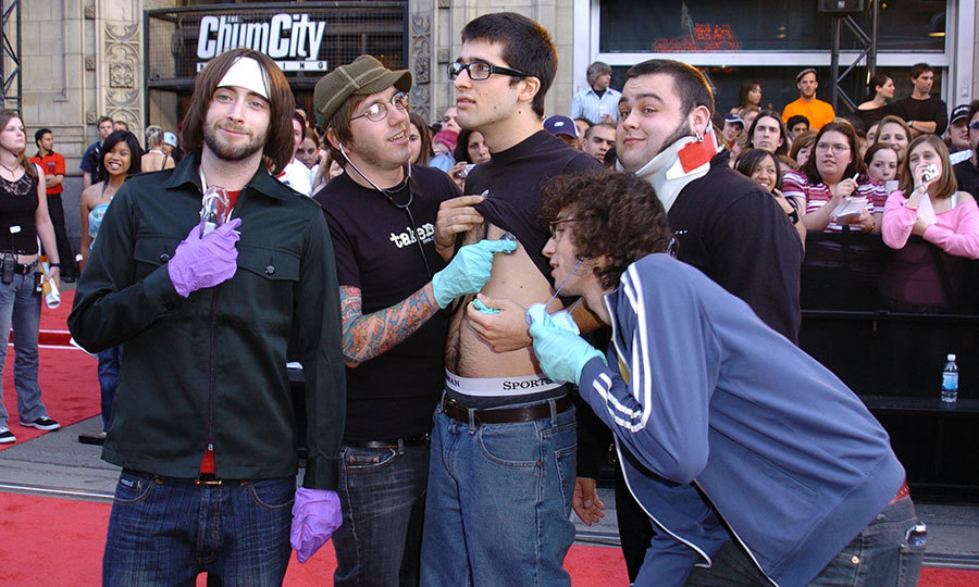 EMERGENCY ENTRANCE: Alexisonfire kicked off the now-longstanding tradition of kooky red carpet arrivals in 2004, showing up at the MMVas red carpet in a Paramedics truck.