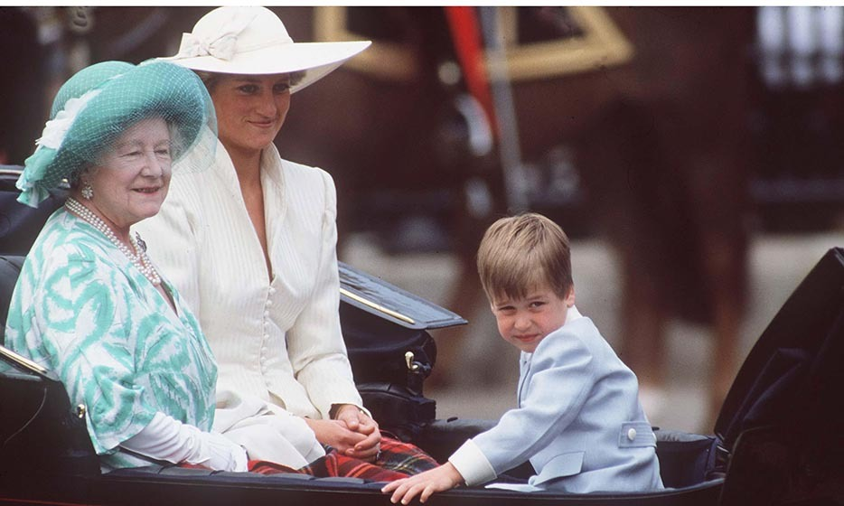 William rode in the carriage with his mother and the Queen mother for one of his earliest Trooping the Colour ceremonies.