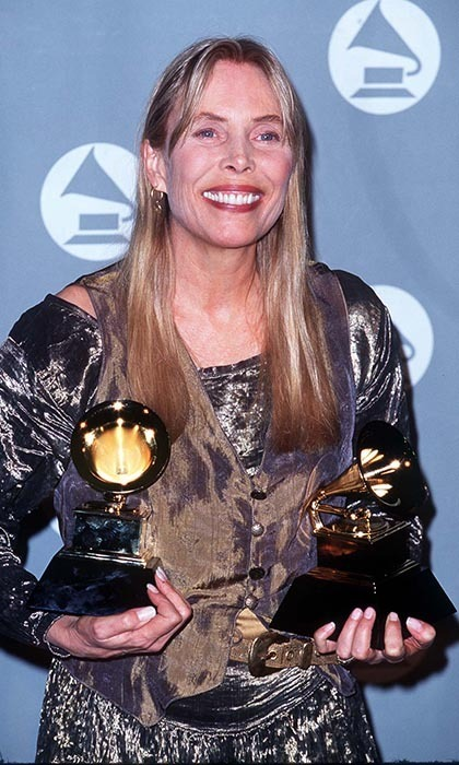 Joni Mitchell is one of only two women to have made it onto 'Rolling Stone' magazine's '100 Greatest Guitarists of All Time' (the other is Bonnie Raitt). The folk singer from Ontario has three Junos, eight Grammys, a Grammy Lifetime Achievement Award and a star on Canada's Walk of Fame to her name. Photo: © Getty