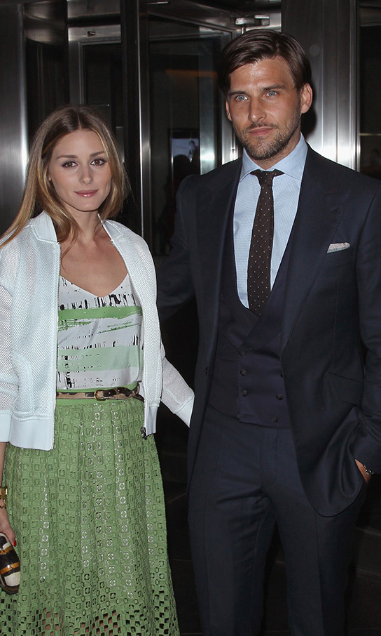 Olivia Palermo and Johannes Huebl – pictured this month – got engaged in January