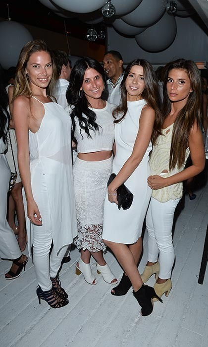 AMBER WHITE PARTY: Lindsay Goodman, Jacqueline Goldman, Jaime Cameron and Maia Spetter (Photo: George Pimental)