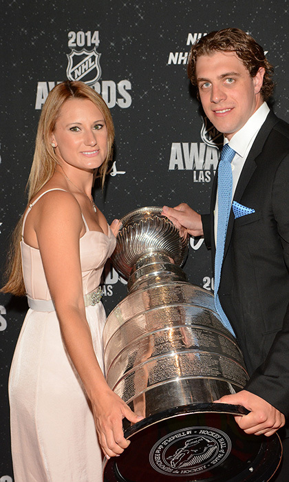 LA Kings centre Anze Kopitar and wife Ines (Photos: Steve Spatafore)