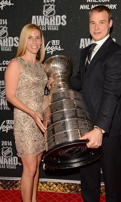 LA Kings Captain Dustin Brown and wife Nicole (Photos: Steve Spatafore)