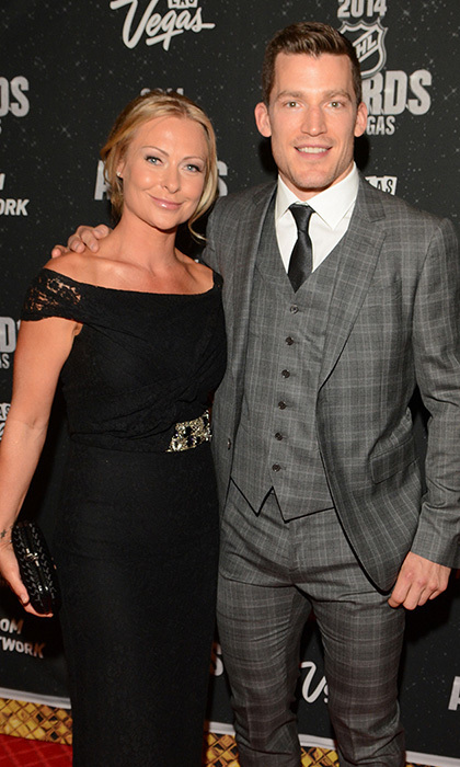 Edmonton Oilers Captain and King Clancy Memorial Trophy winner Andrew Ference and wife Krista (Photos: Steve Spatafore)