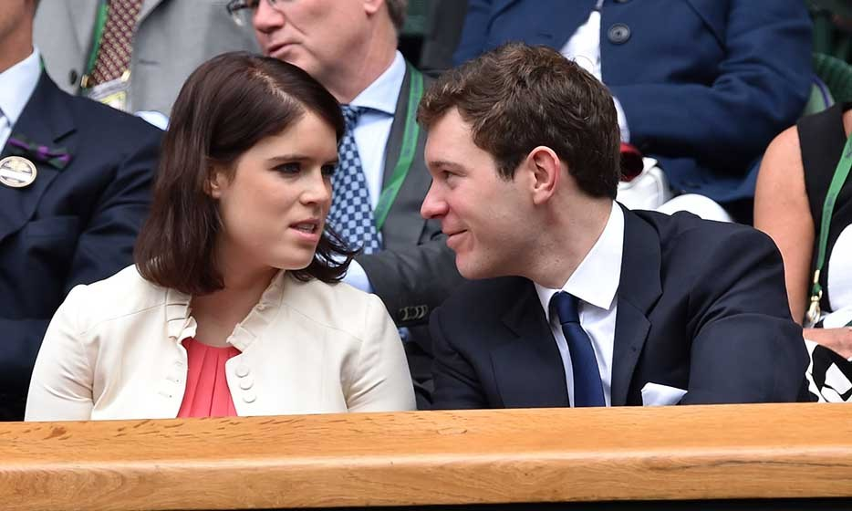 Princess Eugenie of York and her boyfriend Jack Brooksbank looked loved-up in the Royal Box.