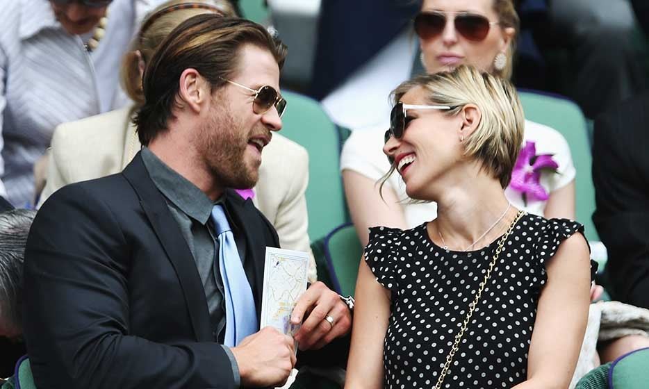 Chris Hemsworth and wife Elsa Pataky were among the A-list stars in the Royal Box for the Wimbledon men's final.
