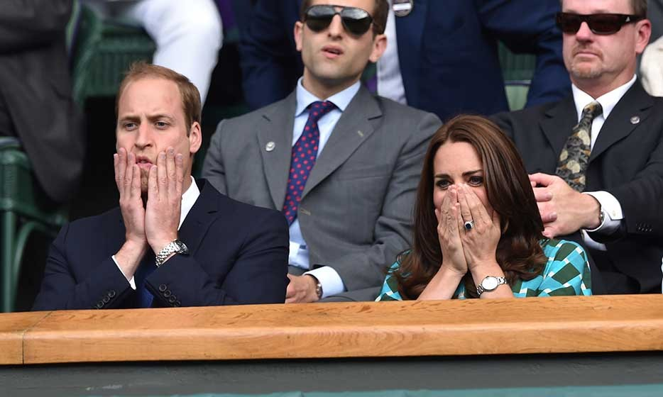 Prince William and the Duchess of Cambridge couldn't hide their excitement as they took in the last day of Wimbledon.