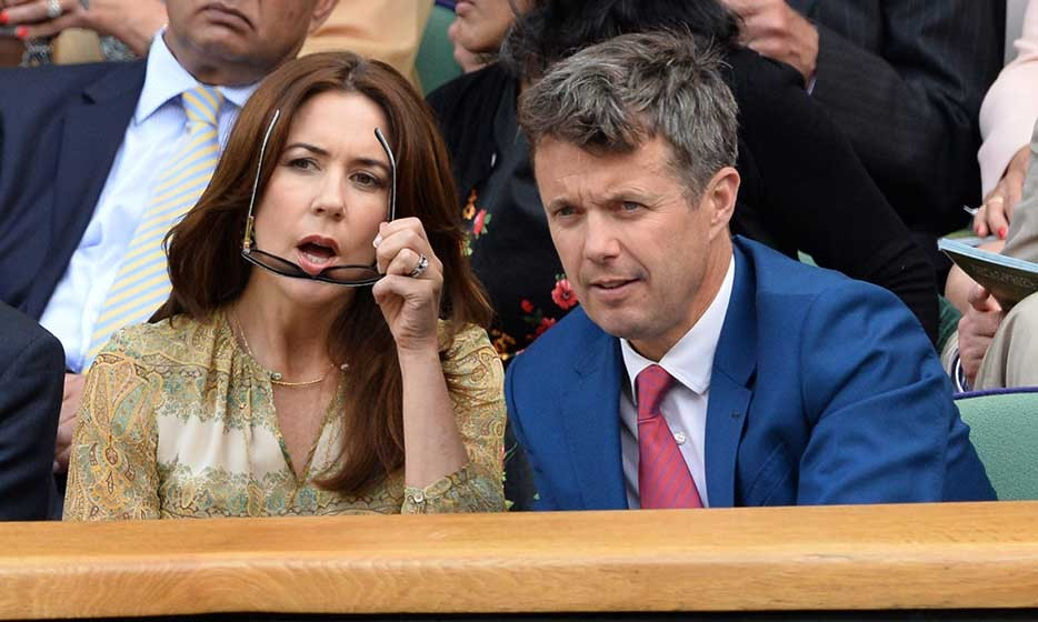 Meanwhile, Princess Mary and Prince Frederik of Denmark attended the Gilles Muller vs. Roger Federer match on centre court.