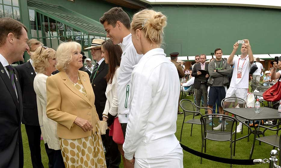 The Duchess of Cornwall met up with one of our own, Canadian tennis star Milos Raonic, who lost to Roger Federer in the semi-finals.