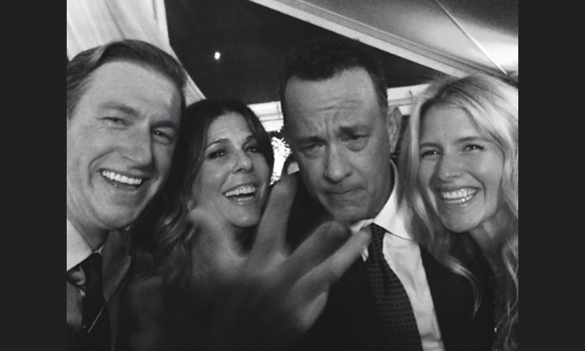 "Tom Hanks was another name on the star-studded guest list and can be seen having fun along with his wife Rita Wilson in this group selfie on Ryan Graves' Instagram: ""Molly loves Rita. Tom can't do West side. Life really is like a box of chocolates."" Photo: © Instagram"