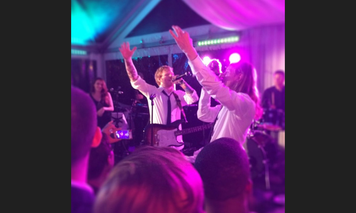 "Ed Sheeran and rapper Asher Roth brought the roof on fire! Brad Haugen captioned: ""And for good measure, this epic jam session w/ @aproth & @teddysphotos really just made the night... #sybwedding"" Photo: © Instagram"