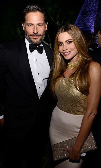 Sofia Vergara and Joe Manganiello attend the Bloomberg & Vanity Fair cocktail reception 3 May, 2014. Photo: © Getty Images