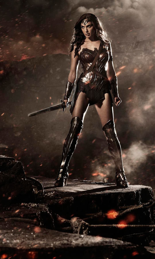 The Poster Shows Wonder Woman Portrayed By Israeli Model And Actress Gal Gadot Carrying A Sword Instead Of Her Iconic Golden Lasso