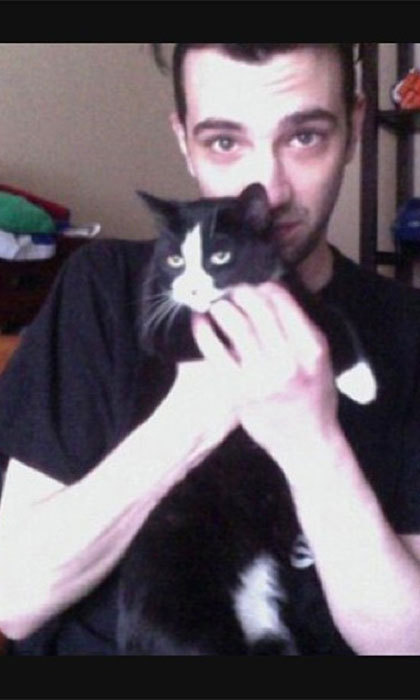 Canadian actor Jay Baruchel takes to Twitter to post photos of his favourite black-and-white kitty.