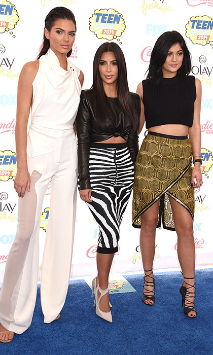 Kendall Jenner, Kim Kardashian and Kylie Jenner. Photo: © Getty