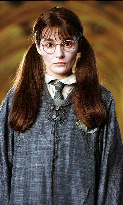 The actress who played Moaning Myrtle is actually 37 years old - the oldest actress to portray a Hogwarts student in the series.