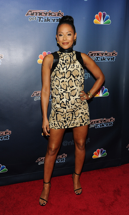 'America's Got Talent' judge Melanie Brown attended the reality show's red carpet event at New York's Radio City Music Hall in a little Gucci dress wonderfully reminiscent of her Spice Girls days. (Photo: © Getty)