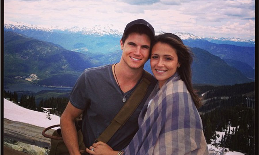 """Whistler mountain with the most beautiful girl in the world."" Photo: © RobbieAmell/Instagram"
