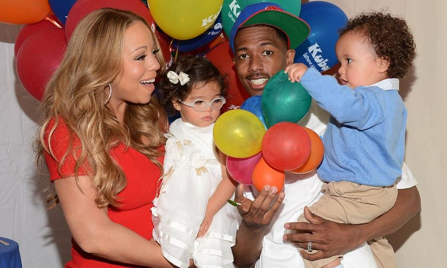 Mariah Carey and Nick Cannon with their three-year-old twins Monroe and Moroccan