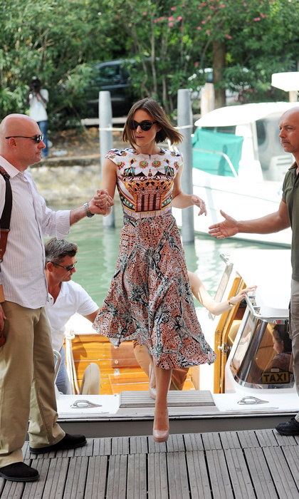 Celebrities in water taxis: 10 chic, nautical entrances ... A Dangerous Method Boat