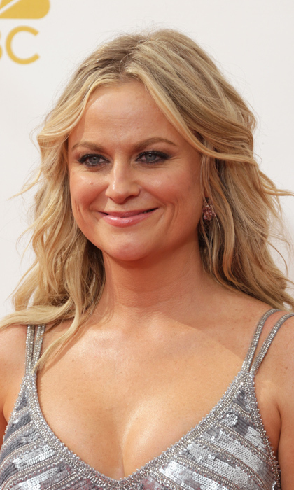 "Amy Poehler may have been born on the east coast but she is pure ""California girl"" at the Emmys this year, rocking sun-kissed blonde waves and a bronzed glow. © Getty"