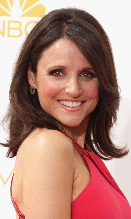 'Veep' star Julia Louis-Dreyfus plays a thoroughly modern politician on TV but paid subtle tribute to the 1960s with an understated bouffant and a slick of liquid liner.  © Getty