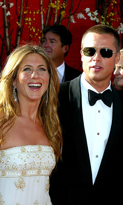 "BRAD PITT AND JENNIFER ANISTON: Throughout the 1990s, Brad and Jen were Hollywood's hottest couple. The A-listers were wed on July 29, 2000 in a star-studded Malibu ceremony, which was rumoured to have cost $1 million. Guests reportedly dined on lobster and sipped Dom Perignon champagne while listening to a live performance by Melissa Ethridge, who sang a rendition of Led Zeppelin's ""Whole Lotta Love."" Despite having gone their separate ways, there are no hard feelings left between Jennifer and Brad. It's been reported that Jen even sent flowers to Brad and Angelina to congratulate them on their nuptials."