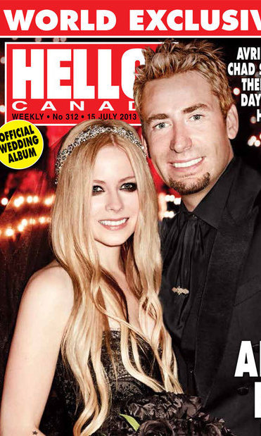 "AVRIL LAVIGNE AND CHAD KROEGER: Canada's king and queen of rock 'n' roll were wed one year ago on July 1, 2013. It seems only fitting that two of our country's most successful musical exports tied the knot on Canada Day in a romantic ceremony in the South of France, covered exclusively by 'HELLO! Canada.' Avril, who donned a black tulle Monique Lhuillier gown to walk down the aisle, described her dream wedding to 'Hello!,' saying, ""I wanted to make sure it's a crazy vacation and an experience of a lifetime for our guests."""