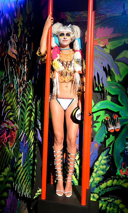 Sophia Webster wowed the fashion pack with her 'Jungle Rave' themed presentation. Photo: © Getty Images