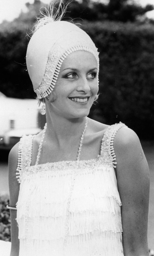 1962: One of Twiggy's earliest photos appeared in the 'Evening Standard,' featuring the British fashion icon in a 1920s-inspired flapper ensemble. (Image: Evening Standard/Getty Images)