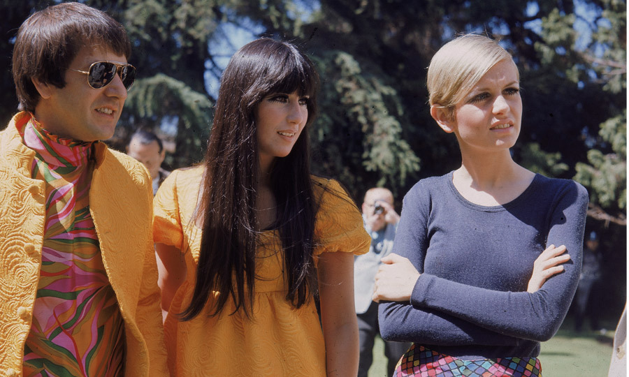 1967: Sonny and Cher welcomed Twiggy to Los Angeles in 1967, where the singing duo was among many to throw parties for the famed fashionista in Beverly Hills. (Image: Hulton Archive)