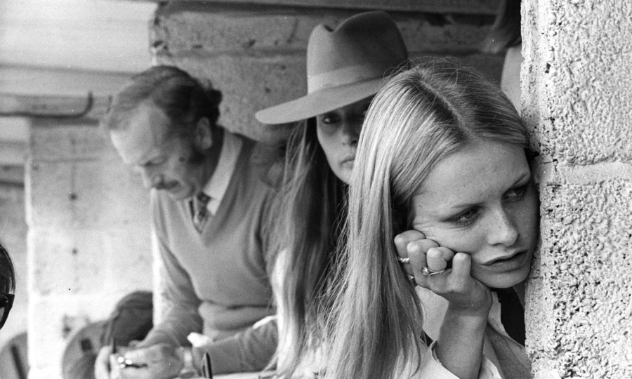 1970: Twiggy's day-to-day life included public appearances, like the British Grand Prix in Kent, where the model sat in the pits looking effortlessly gorgeous. (Image: Hulton Archive)