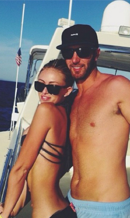Paulina combined her two favourite things – bikinis and Dustin – for this yacht shot.