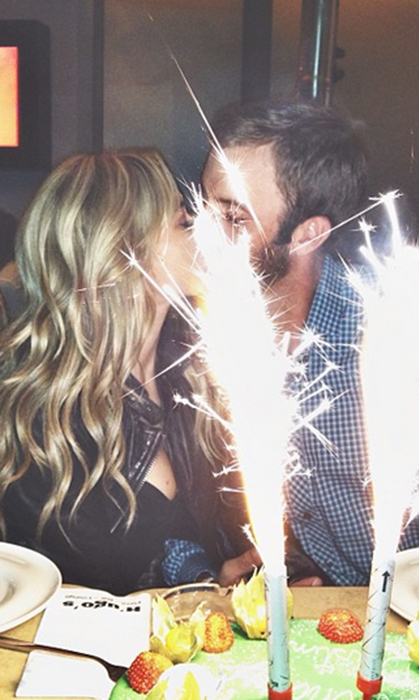 You could practically see the fireworks between them as they celebrated Dustin's birthday last year.