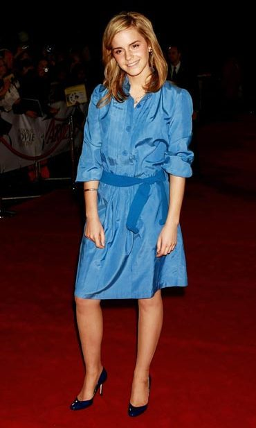 Cute in a denim dress at the National Movie Awards in 2007.