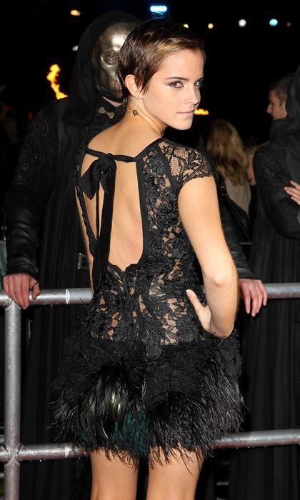 Lacy and backless for another premiere in 2011.