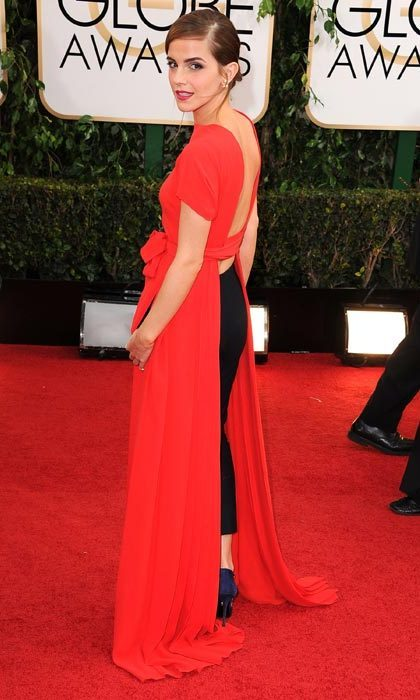 Shunning a typical red carpet dress for this quirky Christian Dior number at the Golden Globes in January, 2014.